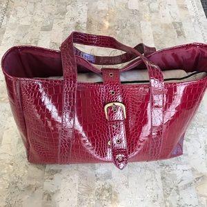 Handbags - Estée Lauder faux alligator skin tote NWOT